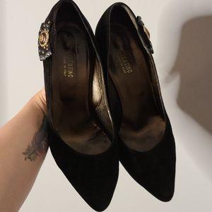 Vintage Valentino leather Black Heels